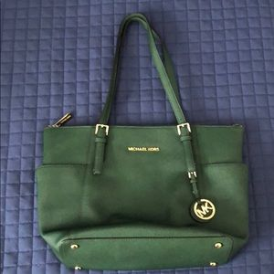 Green and Gold Michael Kors Purse